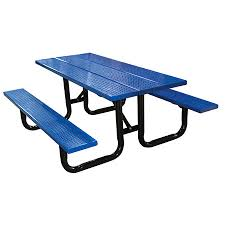 leisure craft picnic tables leisure craft inc perforated steel plank picnic tables