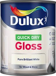 dulux interior pure brilliant white gloss wood u0026 metal paint 750ml