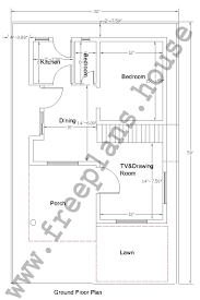 Square House Floor Plans 32 50 Feet 148 Square Meters House Plan