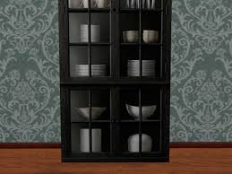 China Cabinet Decor Second Life Marketplace Re Ebony Wood China Cabinet Decor With
