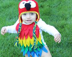 Parakeet Halloween Costume Kids Parrot Costume Etsy