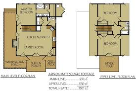 floor plans with porches 2 4 bedroom rustic waterfront lake cabin