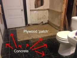 filling gaps in sub floor between plywood and concrete