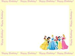 Birth Day Invitation Card Disney Princesses Birthday Invitations Disney Princess Birthday