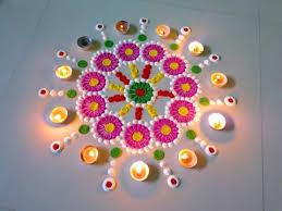 simple unique rangoli design by deepika pant