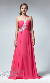 pink bridesmaid dresses one shoulder pink bridesmaid gown dvw0062 vponsale wedding