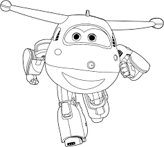 jett super wings coloring pages