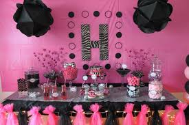 pink and black birthday party decorations beautiful pink decoration