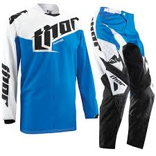 jersey motocross thor phase 2015 youth tilt blue enduro mx junior kids pants jersey