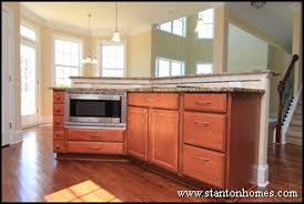 microwave in island in kitchen home building and design home building tips kitchen