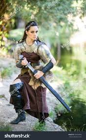 amazon warrior royalty free beautiful amazon warrior in a leather 323264408 stock