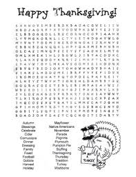 thanksgiving word search puzzle 5th grade 6th grade