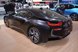 matte black and pink bmw bmw i8 protonic frozen black made its debut in geneva