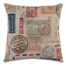 passport stamp pillow travel themed room pinterest passport