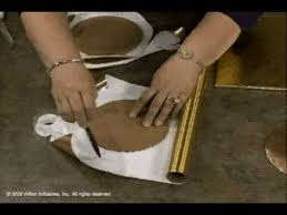 gold foil wrap how to cover a cake board with fanci foil