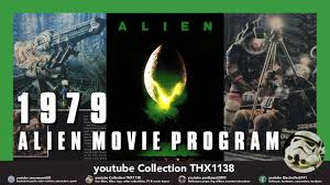 alien vintage official movie premier theater lobby program limited