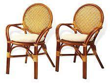 rattan dining chairs ebay