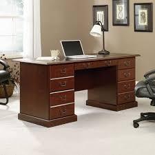 sauder heritage hill executive desk classic cherry walmart com