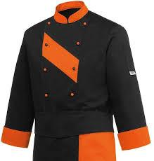vetement de travail cuisine veste cuisine patch orange nibetex vêtement de travail objets