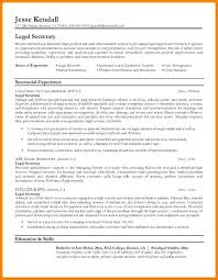 Resume Template For Secretary Legal Secretary Resume Sample Legal Secretary Legal Secretary