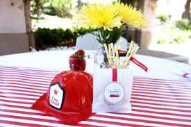 firefighter party tablescapes oh my omiyage