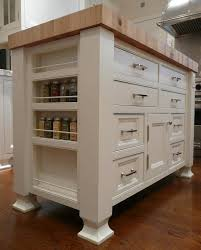 kitchen islands free standing freestanding white kitchen island with built in spice racks and