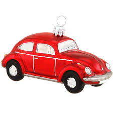 vw beetle bug glass ornament bronner s