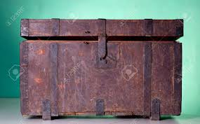 wooden trunk antique wooden trunk on a table stock photo picture and royalty