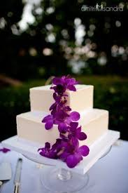 hawaiian wedding cake topper with orchids on our cake weddings