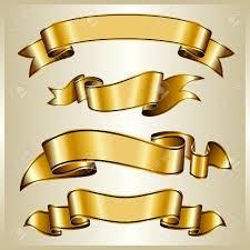 gold ribbon gold ribbon collection royalty free cliparts vectors and stock