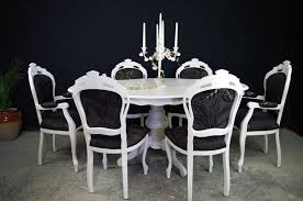 french dining room furniture french style dining table with 6 louis chairs painted vintage