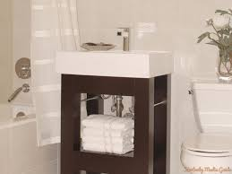 15 inch depth bathroom vanity in small space