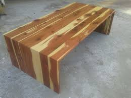 waterfall coffee table wood custom cedar waterfall coffee table by tpt cal custommade com