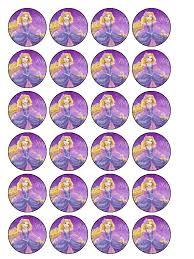 rapunzel cake topper princess rapunzel cupcake topper pack of 30