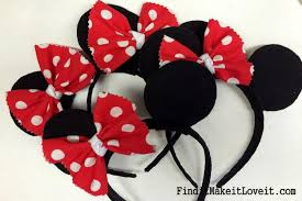 mickey mouse hair bow diy mickey or minnie mouse ears find it make it it