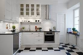White And Black Kitchen Designs by White Kitchen Tile Floor Kitchen With Tiles Glamorous Refreshing