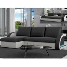 canape angle noir et blanc marque generique canapé d angle convertible et réversible en