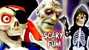 scary halloween animatronic frankenstein lab monster banjo playing