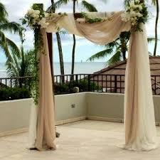 Wedding Arches Newcastle Ceremony Arbor Halekulani Wedding Hau Terrace Drape Fabric Hawaii
