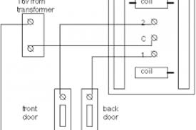 wiring diagram for doorbell u0026 how to wire a doorbell electrical