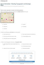 map reading practice quiz worksheet reading topographic and geologic maps study com