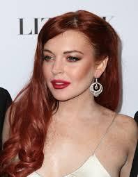 Hair Color For White Skin Lindsay Lohan Red Lips Lindsay Lohan Premiere Liz White