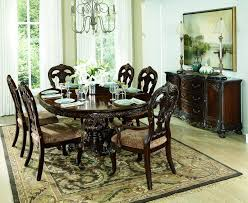 Carved Dining Table And Chairs Home Elegance 2243 76 7 Pc Deryn Park Ii Collection Cherry Finish