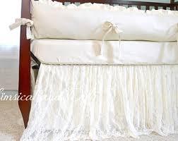 Shabby Chic Crib Bumper by Baby Bedding Crib Bedding Shabby Chic Vintage Lace Baby