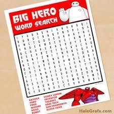 disney big hero 6 printable activity page printable coloring