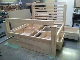 Build Bed Frame With Storage How To Build Bed Frame With Drawers Diy California King Bed Frame