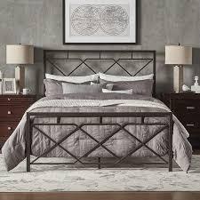 bianka geometric x design dark bronze metal bed by inspire q