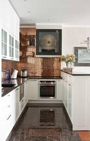 Backsplash Kitchens Copper Backsplash Adds Personality To This Kitchen Kitchens