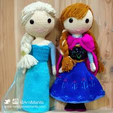i made these elsa and ana crochet dolls from frozen for a friend u0027s