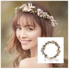 bridal garland pretty bridal garland headband flower crown hair wreath halo with